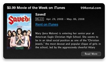 099 iTunes Movie Of The Week Widget
