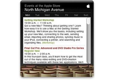 Apple Store Event Widget