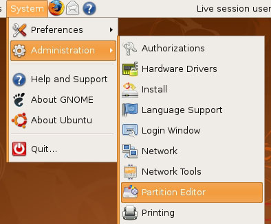 Ubuntu Partition Editor