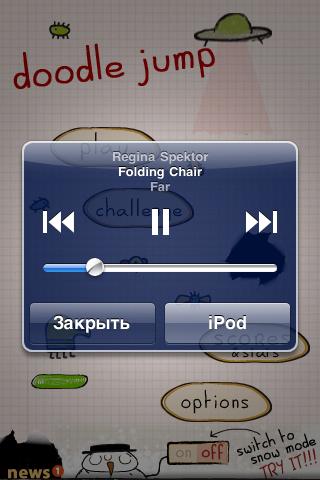 Быстрый доступ к iPod