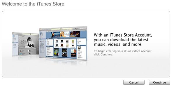 Регистрация в американском iTunes Store