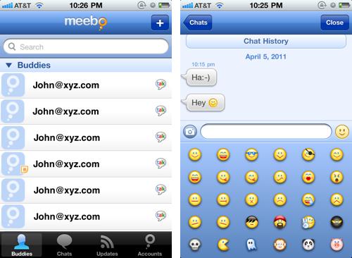 Meebo на iPhone