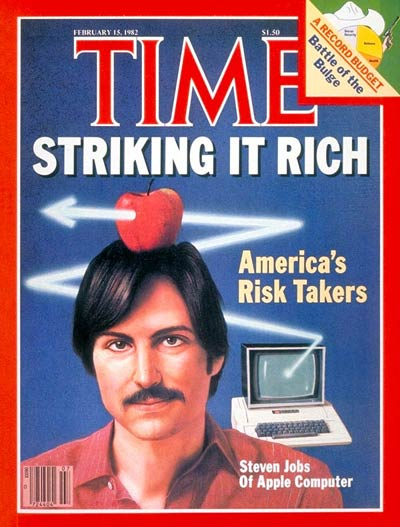 Стив Джобс на обложке журнала Time (15 февраля 1982)