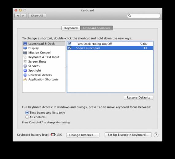 Launchpad Keyboard Shortcut