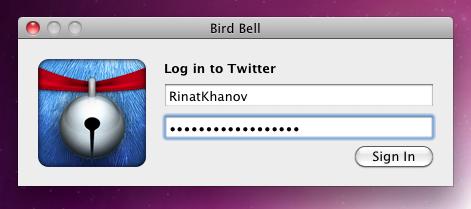 BirdBell — уведомления Twitter у вас в менюбаре