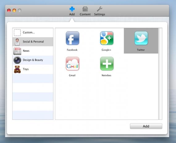 Desktopr — добавить новый объект на рабочий стол