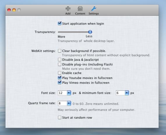 Desktopr — настройки приложения