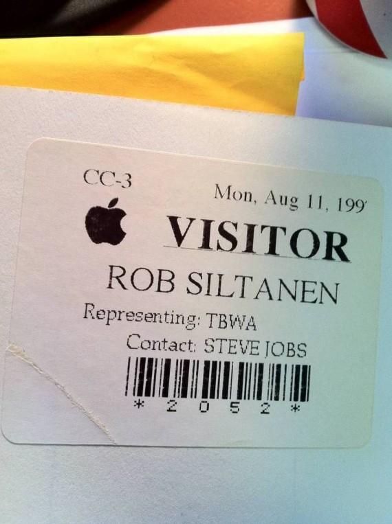 Пропуск посетителя в Apple Роба Силтонена