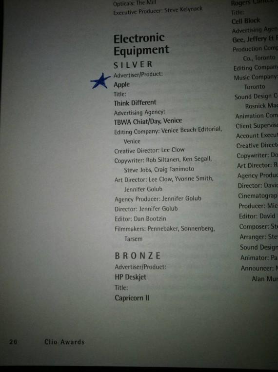 Список награжденных Clio