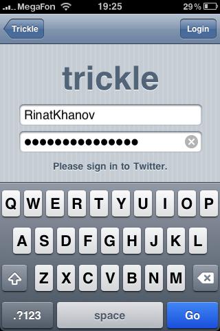 Trickle for iOS — отличный «пассивный» Twitter-клиент