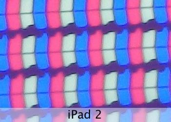 Дисплей нового iPad под микроскопом