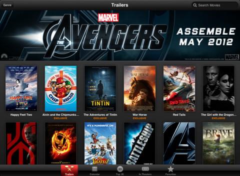 iTunes Movie Trailers теперь с поддержкой Retina на iPad