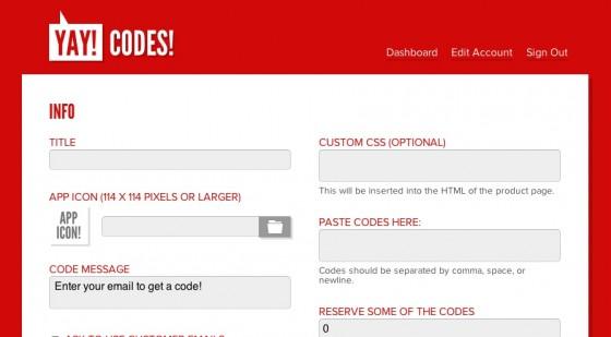 Yay Codes — сервис для разработчиков для работы с промо-кодами