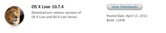 OS X Lion Update 10.7.4