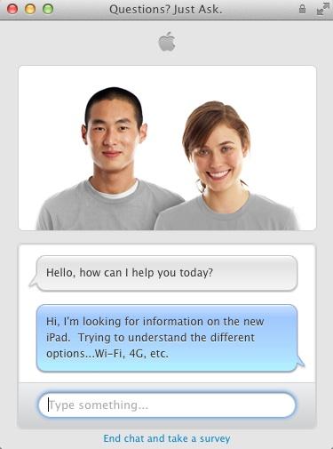 В онлайн-магазине Apple Store обновился чат, новые функции в бразильской версии