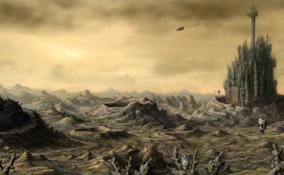 Открывающий ландшафт в Machinarium