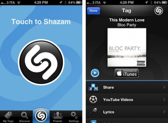 Shazam обновился до версии 5.0