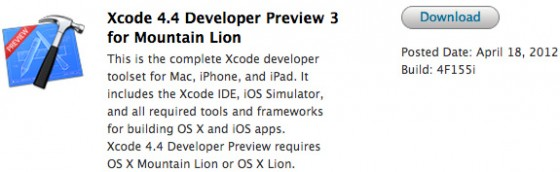 Xcode 4.4 Developer Preview 3