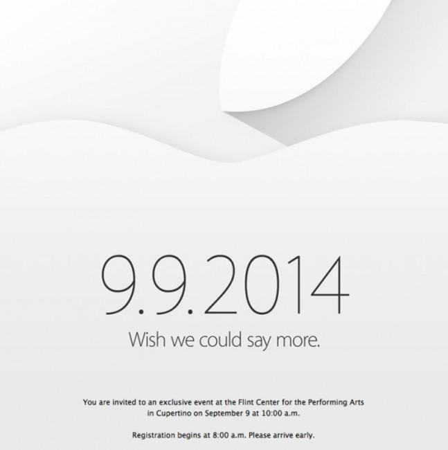 Приглашение на презентацию iPhone 6