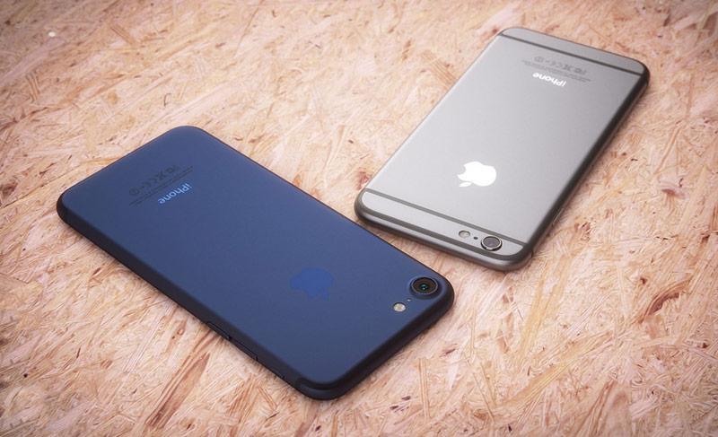Появился снимок синего iPhone «семерки»