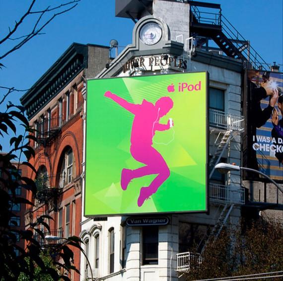 green pink billboard