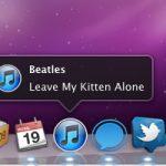 Встроенные уведомления в Dock для текущей песни iTunes