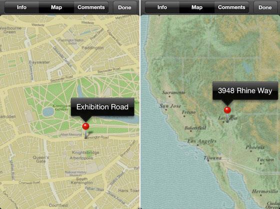 iPhoto for iOS не использует карты Google