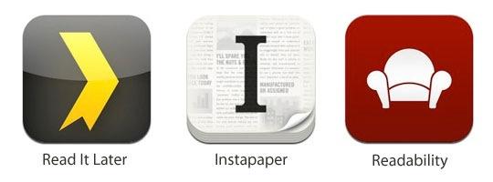 Read It Later vs. Instapaper vs. Readability