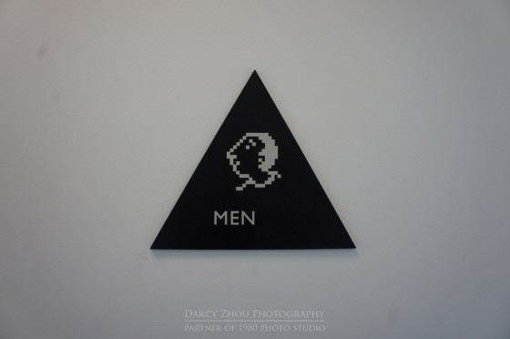 Men's Room sign at Apple HQ