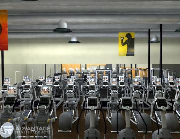 Apple HQ fitness center
