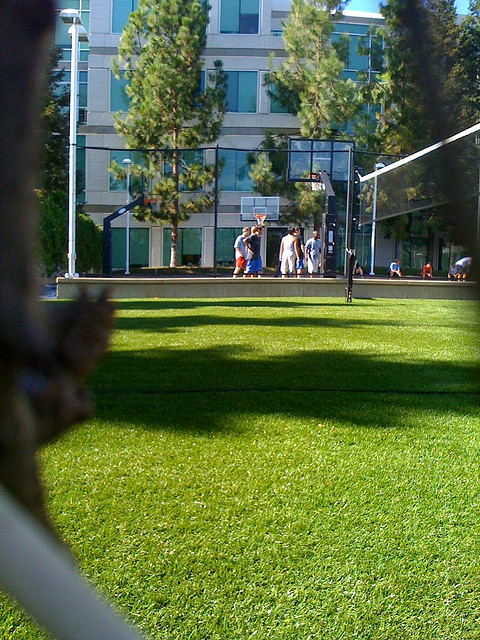 Apple HQ outdoor basketball court