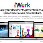 Вышел новый iWork с поддержкой iCloud и Retina