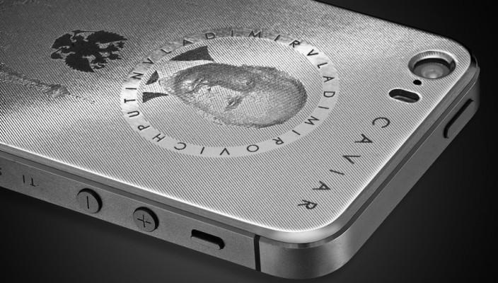 Титановый iPhone 5S с Путиным и Кремлём