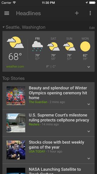 Погода и новости Гугл