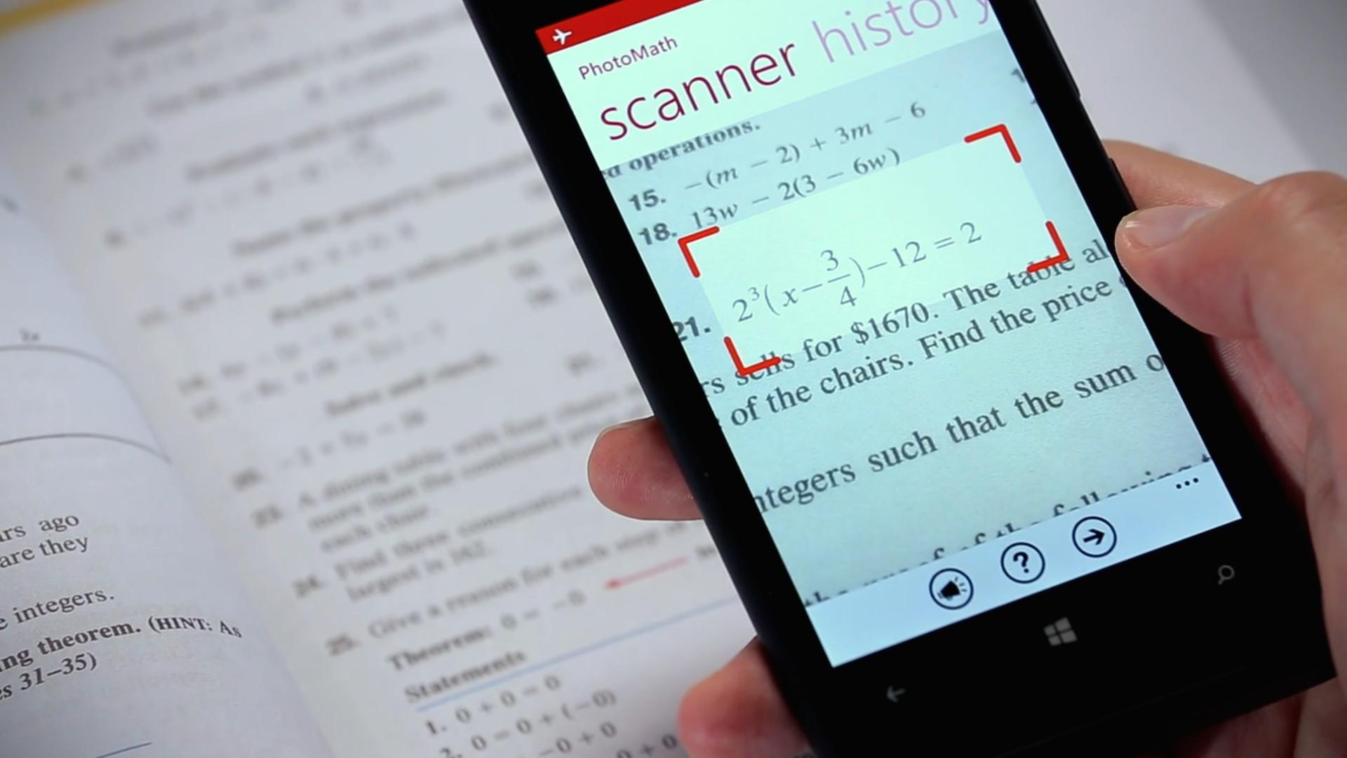 Фотографируем и решаем математические уравнения приложением PhotoMath