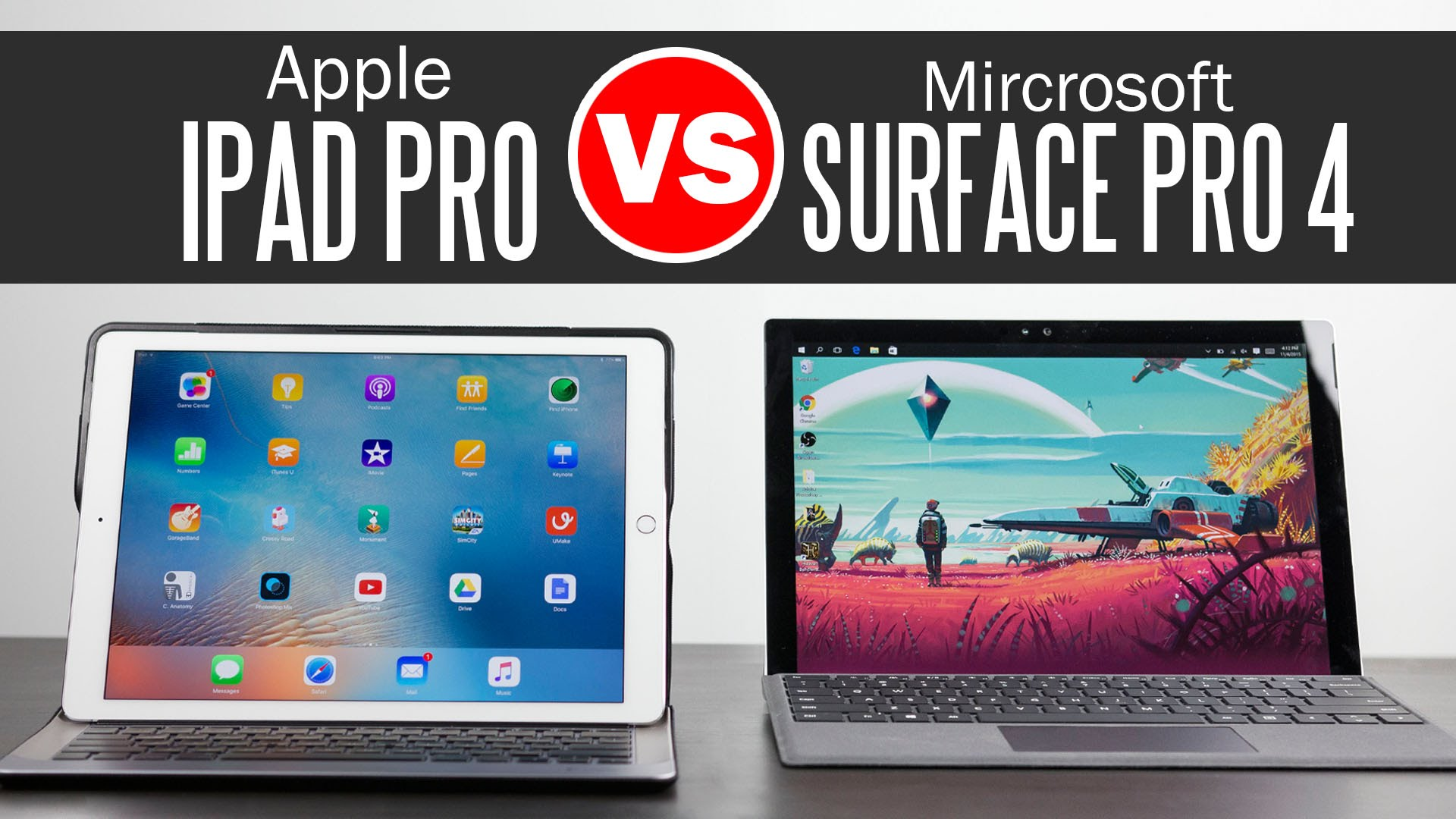 apple ipad pro против surface pro 4